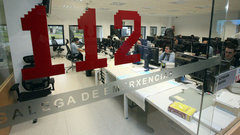 Oficinas do 112 en Santiago. DP