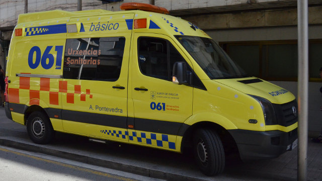 Una ambulancia del 061. DP