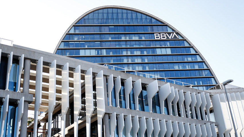 Sede de BBVA en Madrid. EUROPA PRESS