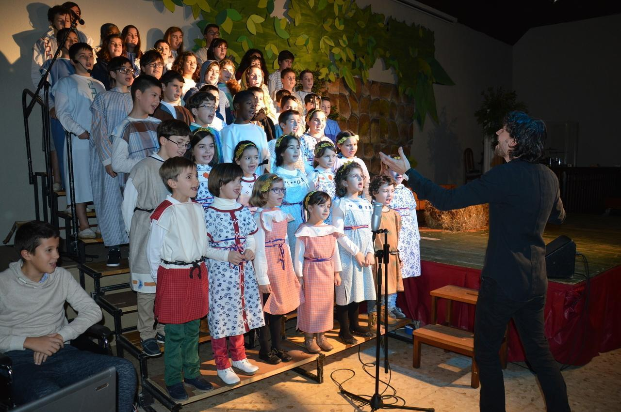 Los niños de la Iglesia Evangélica recuerdan el nacimiento de Jesús