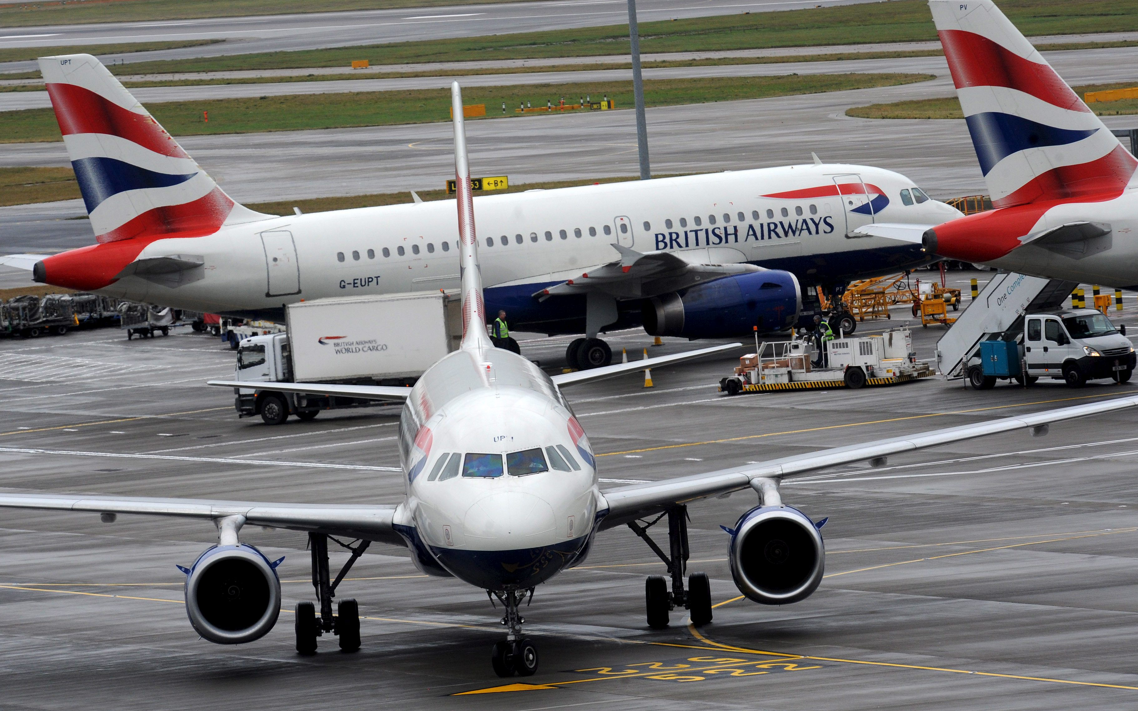 Aviones de British Airways. ADP