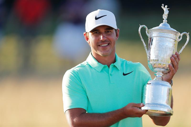 Brooks Koepka celebra el US Open