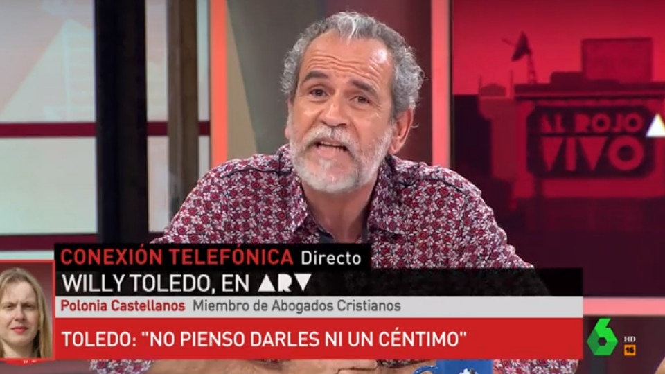Willy Toledo, en 'Al rojo vivo'. LASEXTA