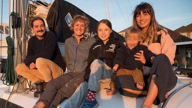 Greta Thunberg viaja a España en el catamarán familiar de unos youtuber australianos