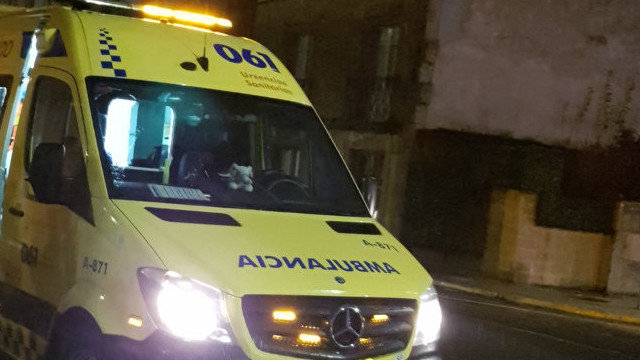 Una ambulancia. ARCHIVO
