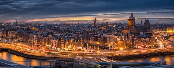 Vista aérea de Amsterdam